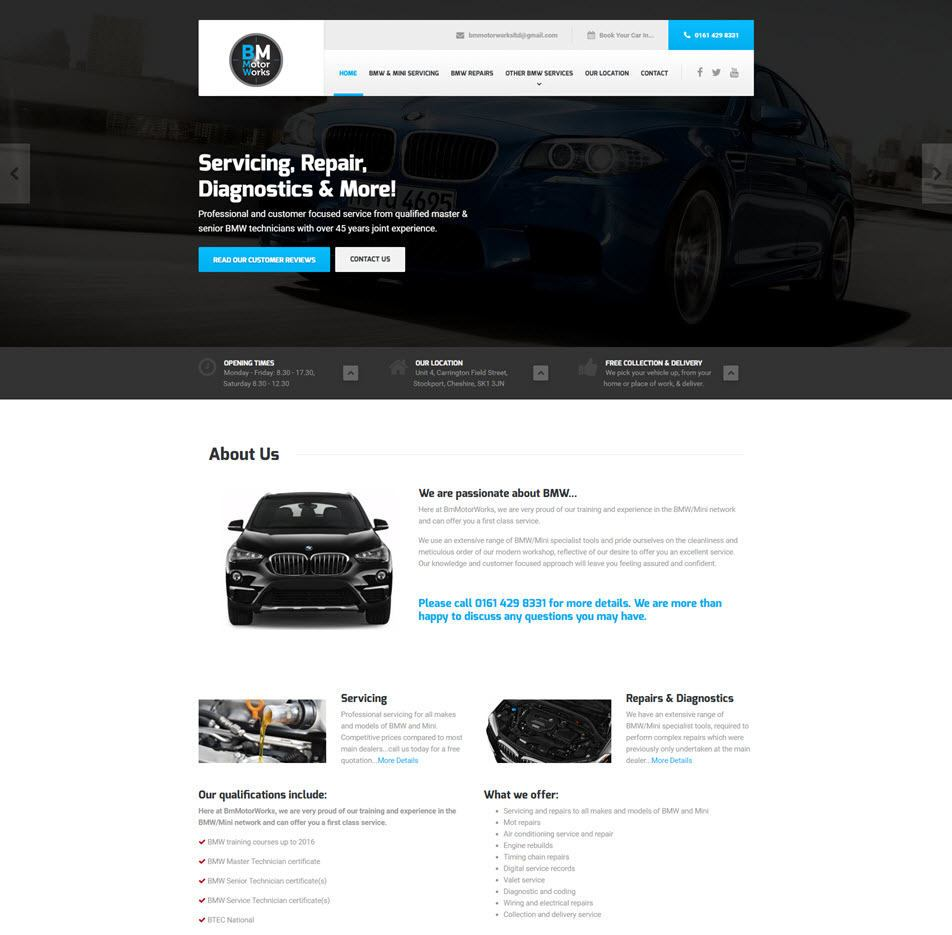 BM Motorworks - website