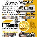 Promotional leaflet for Garage Doors