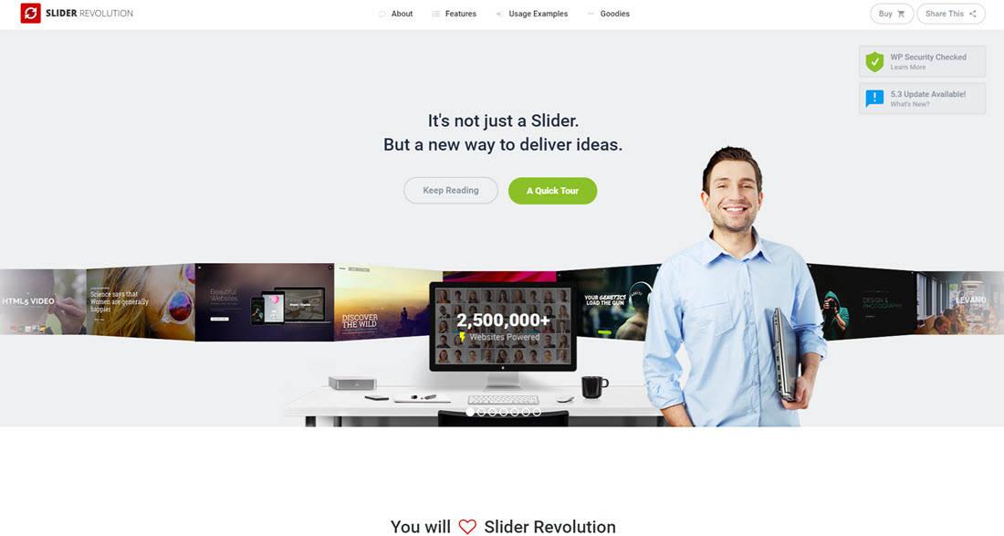 Slider Revolution website home page