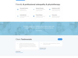 Clinic of Osteopathy - website thumb
