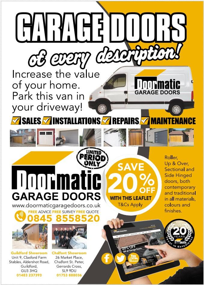 Promotional leaflet for Garage Doors