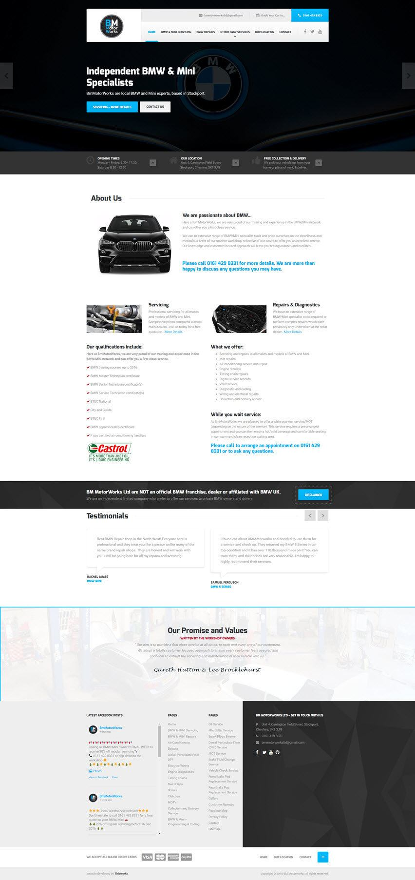 Website - BMW Independent Garage - Stockport