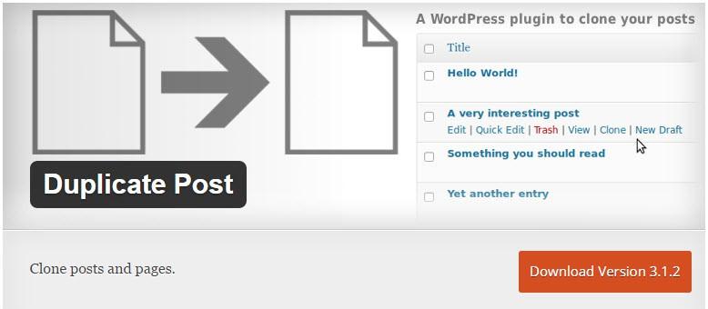 Duplicate Post - available via wordpress.org