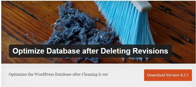 Optimize Datbase after Revisions - available via WordPress.org
