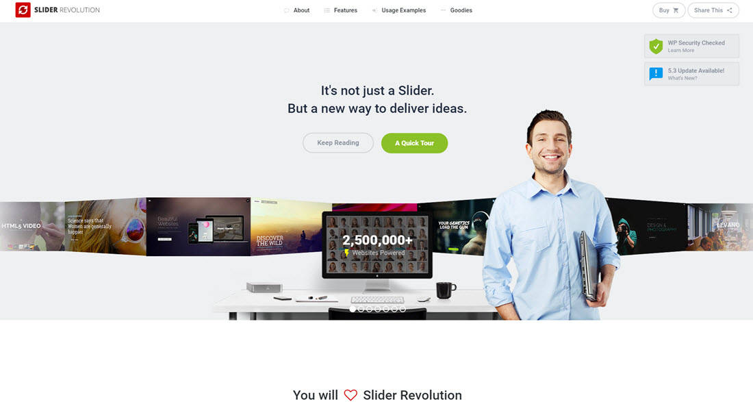 Slider Revolution website home page