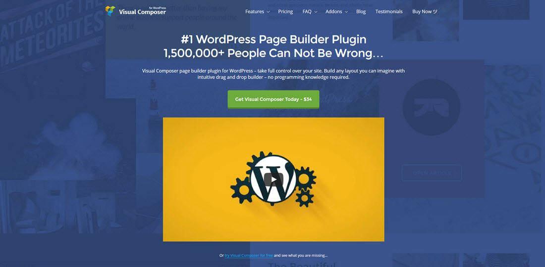 Visual Composer - WordPress page builder plugin