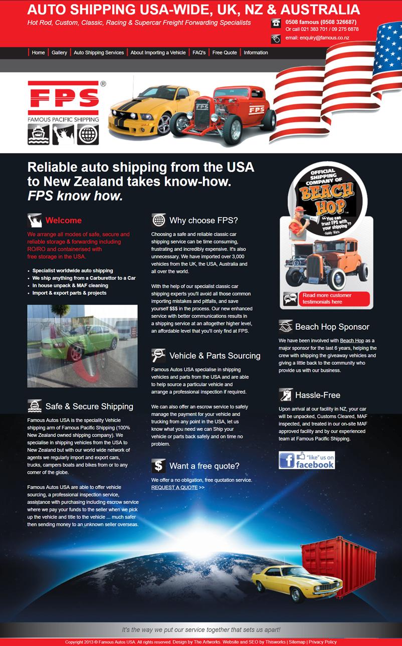 Website Design Stockport - Auto Shipping