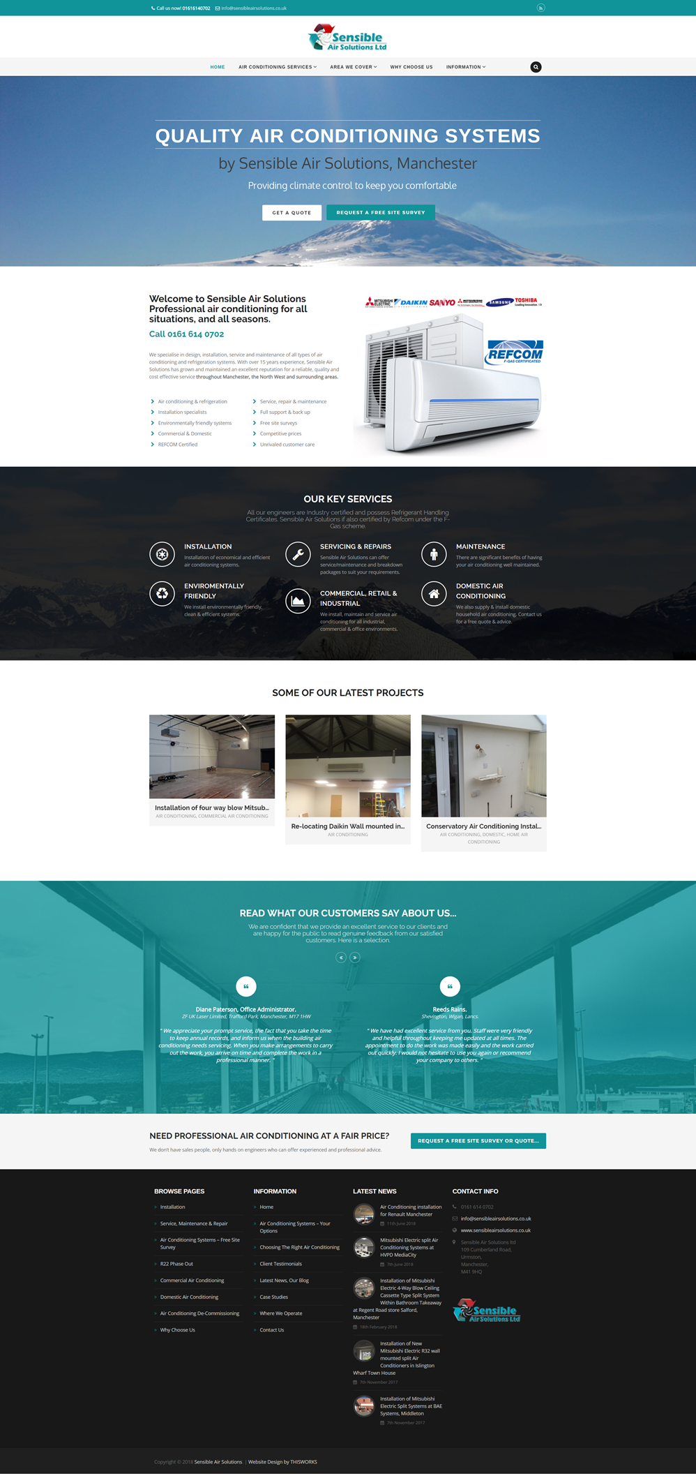 Website Design Stockport - Air Conditioning