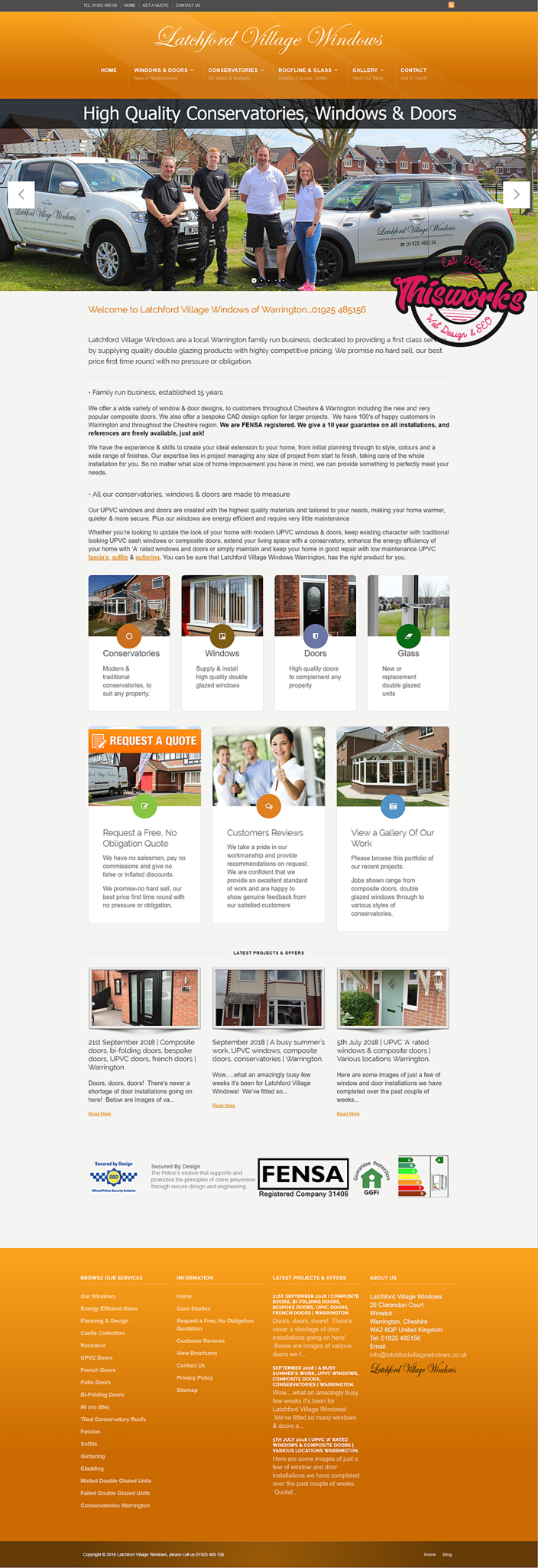 Website Design Stockport - Conservatory & Double Glazing