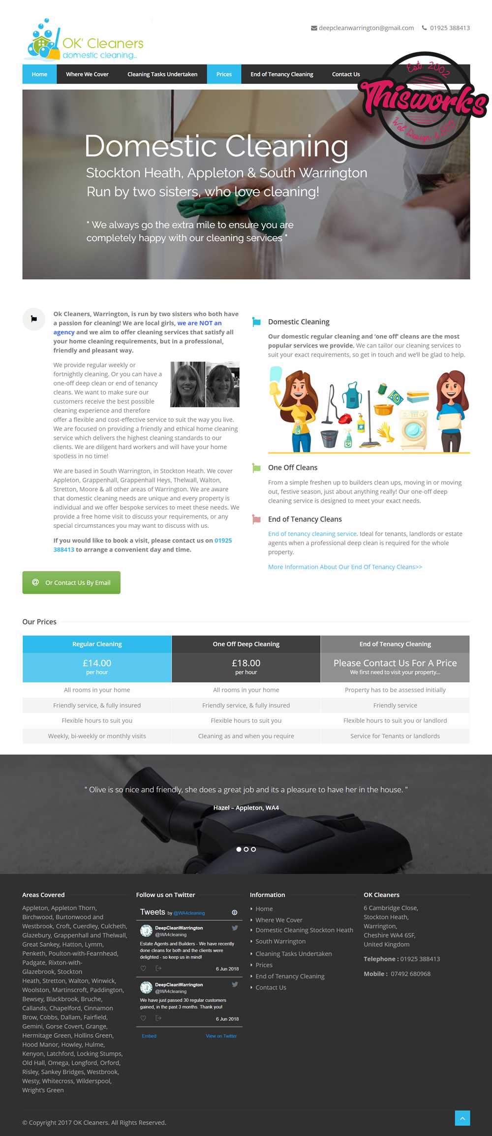Website Design Stockport - Domestic Cleaners