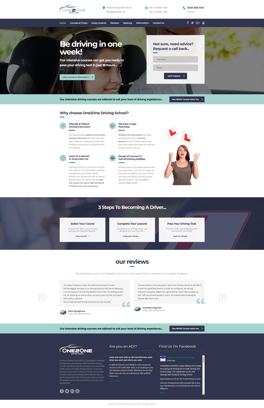 Website Design Stockport - Driving School