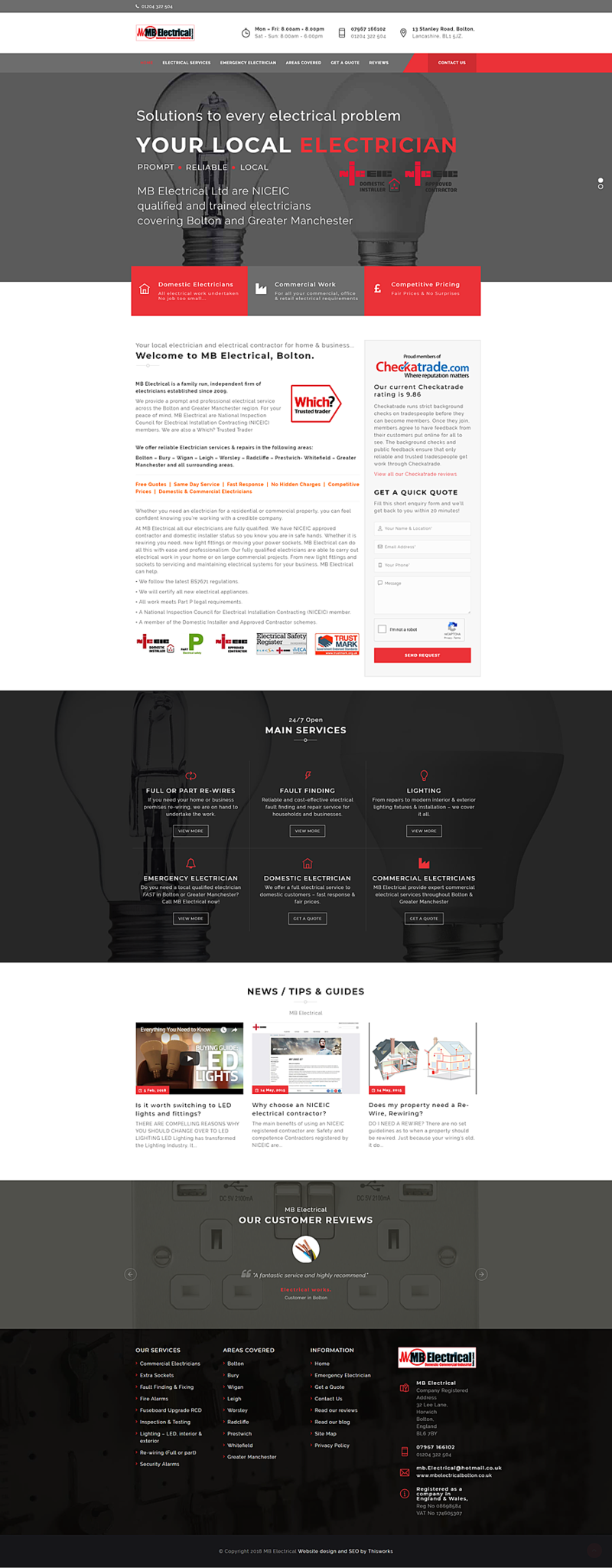 Website Design Stockport - Electrical Contractors