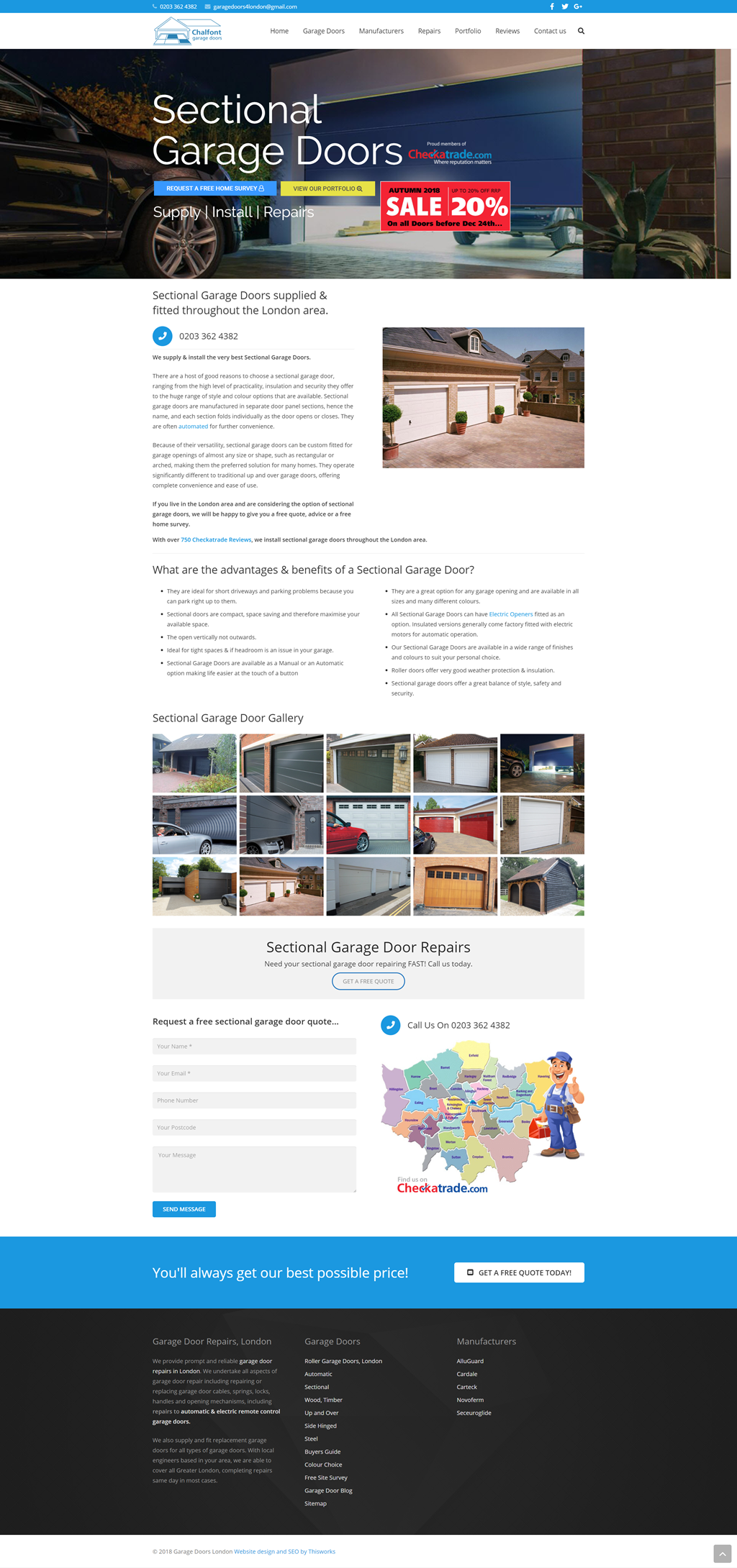 Website Design Stockport - Garage Doors