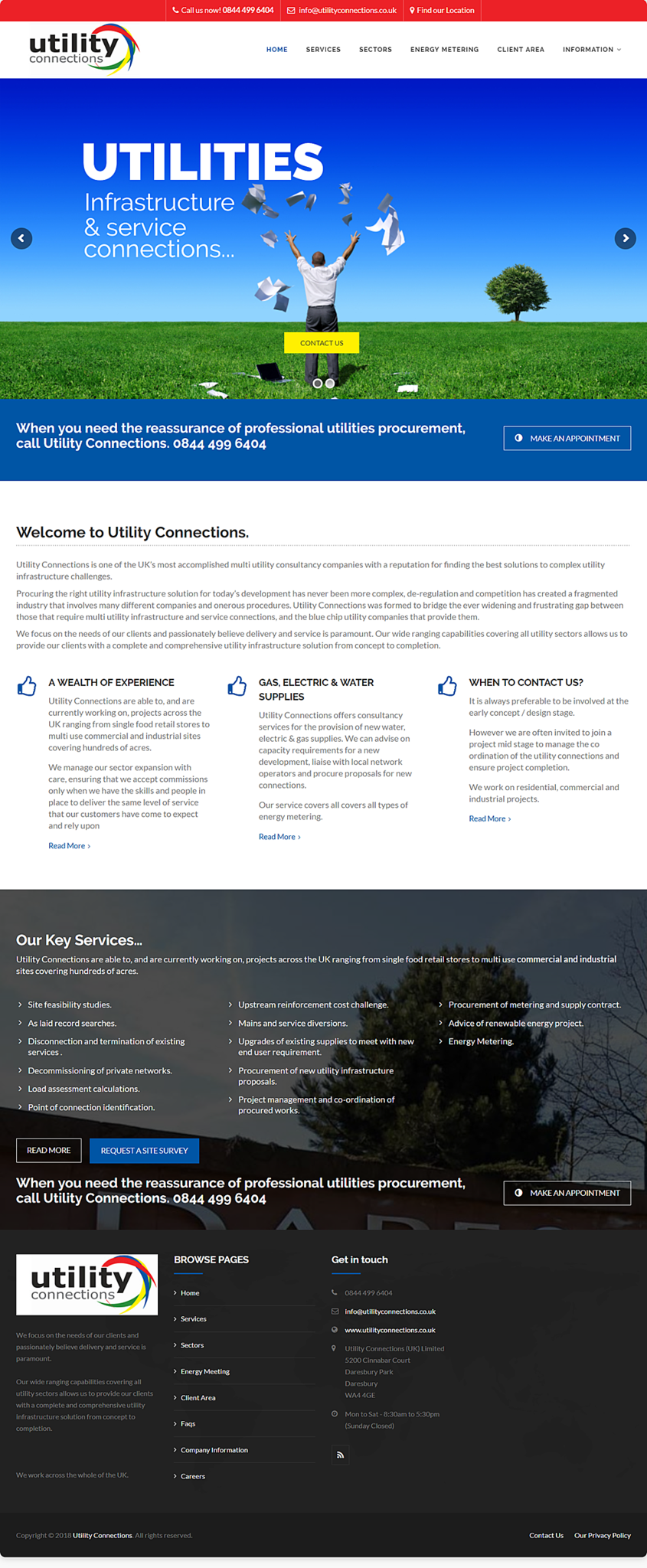 Website Design Stockport - Utilities Company
